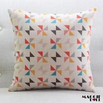 Vintage Cotton Linen Cushion Cover Home Decor Decorative pillow [Flower]